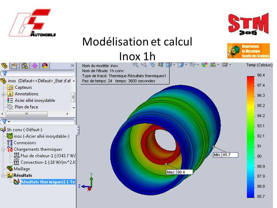 Modélisation et calcul Inox 1h