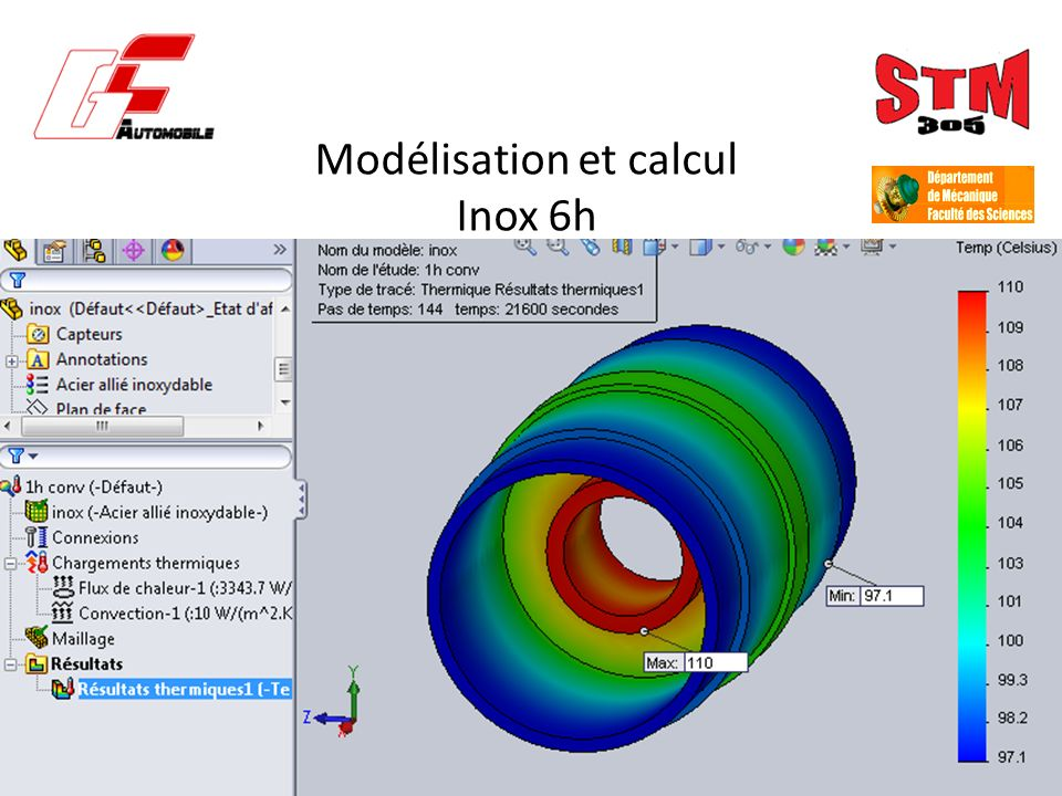 Modélisation et calcul Inox 6h