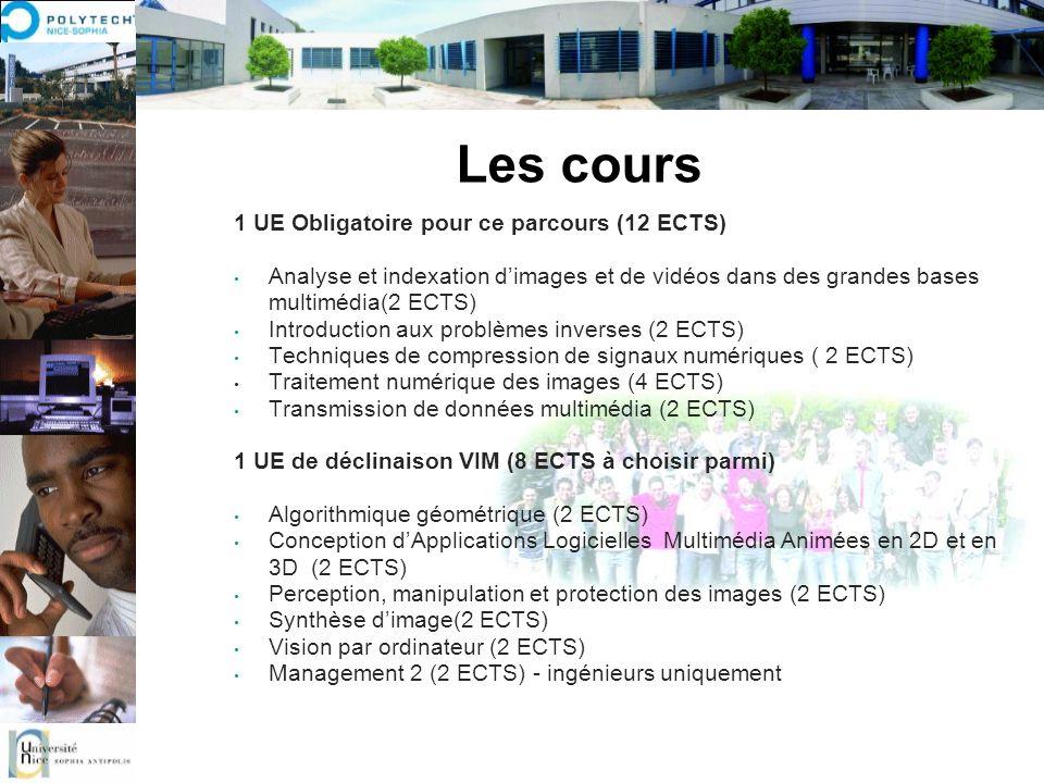 Les cours 1 UE Obligatoire pour ce parcours (12 ECTS) Analyse et indexation dimages et de vidéos dans des grandes bases multimédia(2 ECTS) Introductio