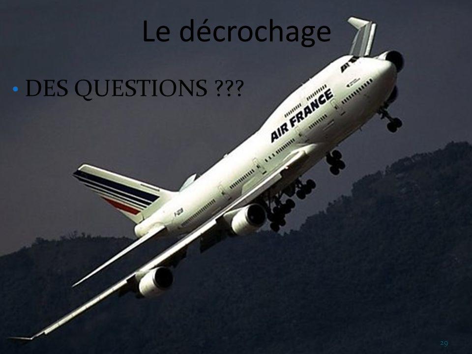 Le décrochage DES QUESTIONS ??? 29