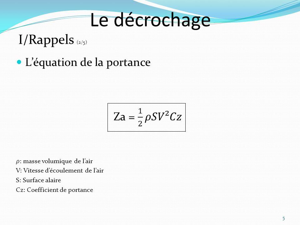 Le décrochage 16 III/ Etude du décrochage (4/6)