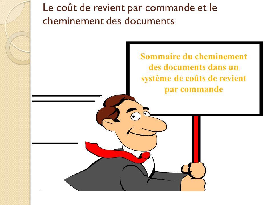 Sommaire du cheminement des documents dans un système de coûts de revient par commande Le coût de revient par commande et le cheminement des documents