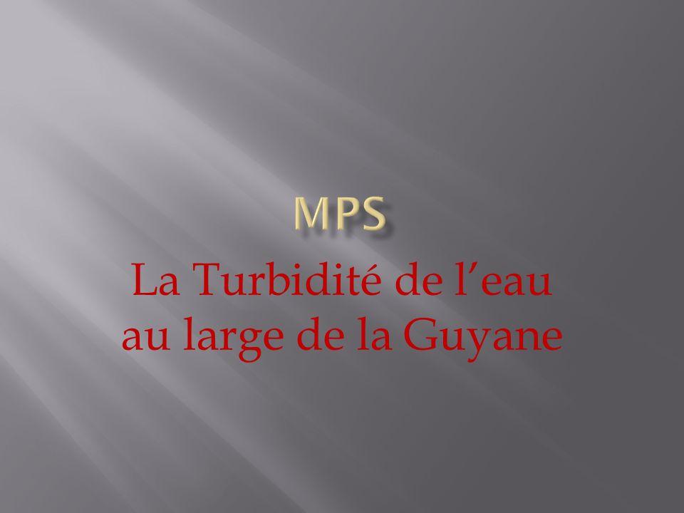 Moyenne des lux au large de la côte: Total des lux / 14 17723/14 = 1266 lx Moyenne de la masse de boue au large de la Guyane: 142/Moyenne de lx 142/1266 = 0,1121 g