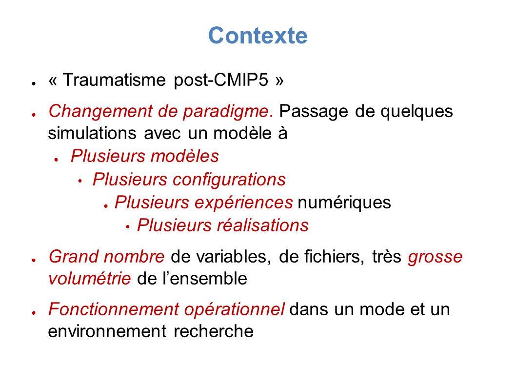 « Traumatisme post-CMIP5 » Changement de paradigme.