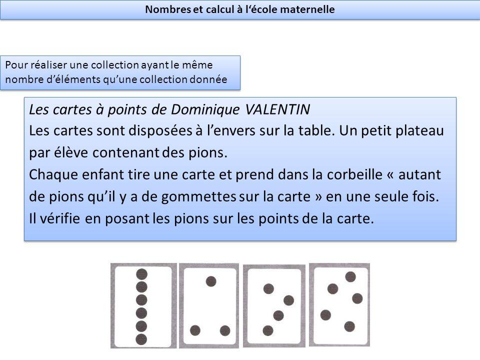 Les cartes à points de Dominique VALENTIN Les cartes sont disposées à lenvers sur la table.