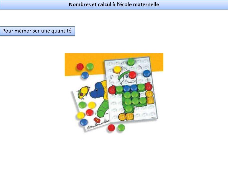 Nombres et calcul à lécole maternelle Pour mémoriser une quantité