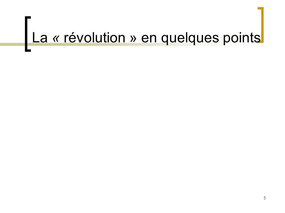 5 La « révolution » en quelques points