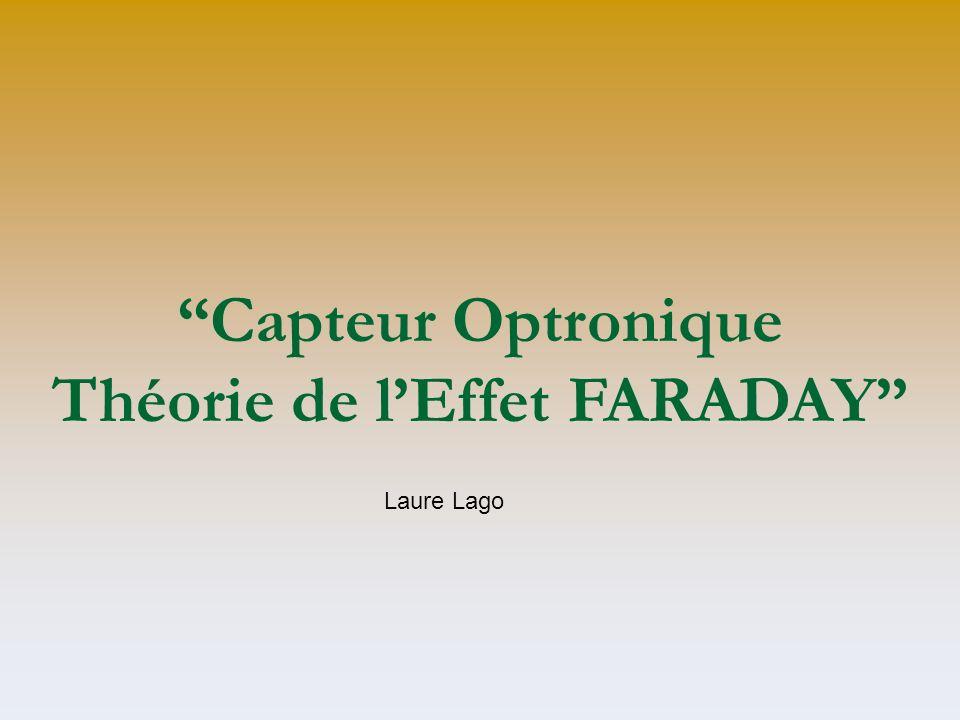 Capteur Optronique Théorie de lEffet FARADAY Laure Lago
