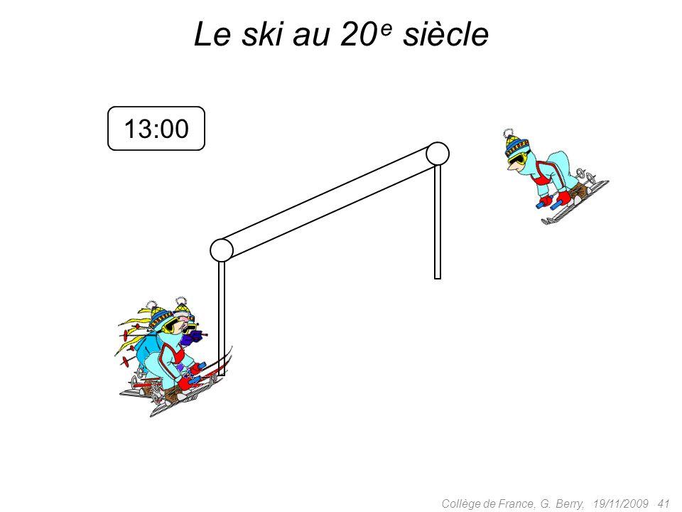 13:0613:0312:57 19/11/2009 41Collège de France, G. Berry, Le ski au 20 e siècle 13:00
