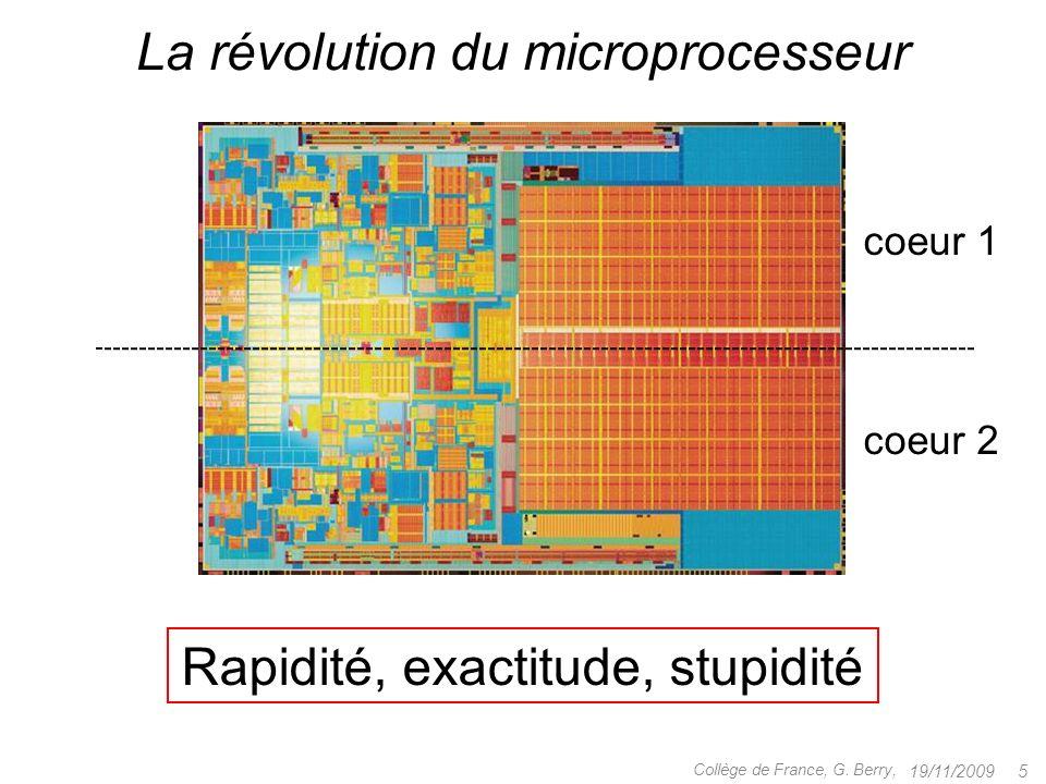 Rapidité Exactitude Stupidité Maîtrise .Modèles de calcul 19/11/2009 6Collège de France, G.