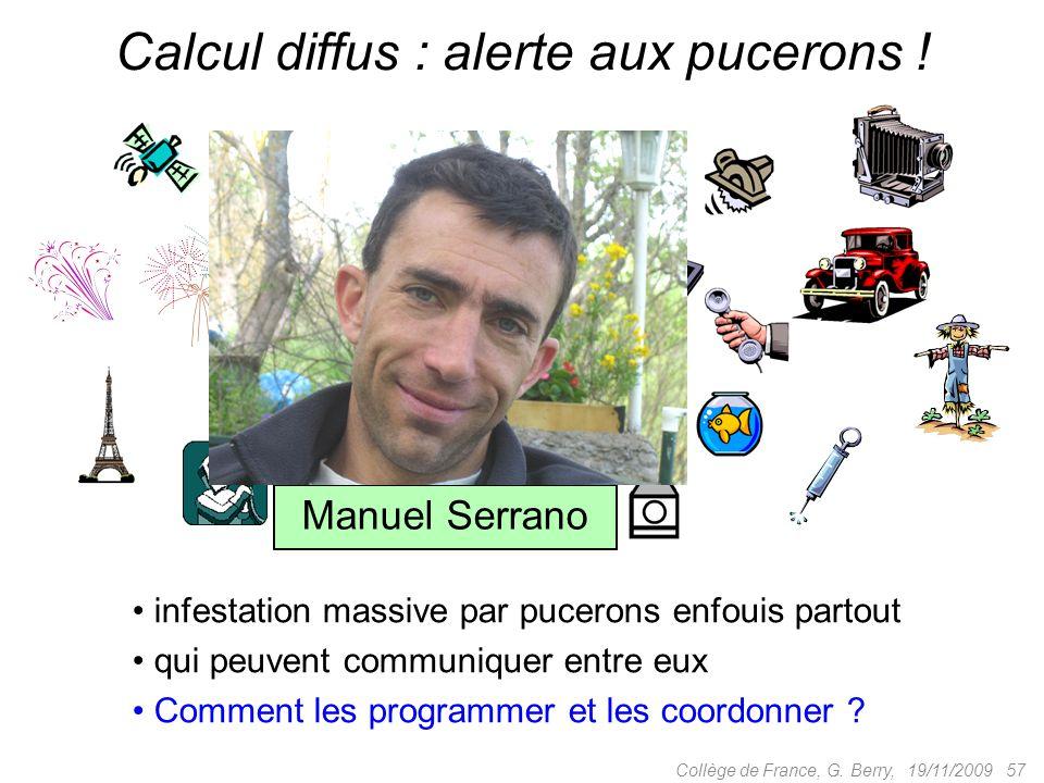 19/11/2009 57Collège de France, G. Berry, Calcul diffus : alerte aux pucerons .