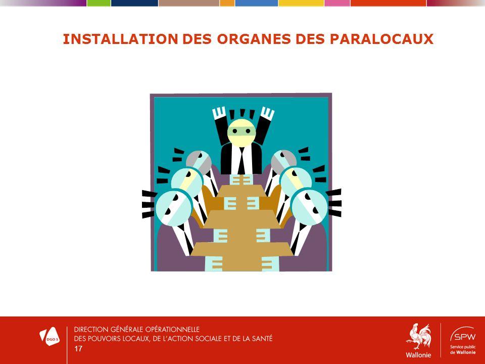 17 INSTALLATION DES ORGANES DES PARALOCAUX