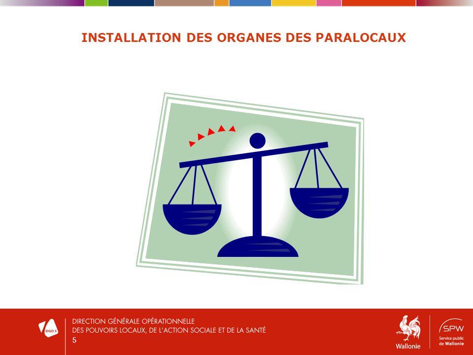 5 INSTALLATION DES ORGANES DES PARALOCAUX