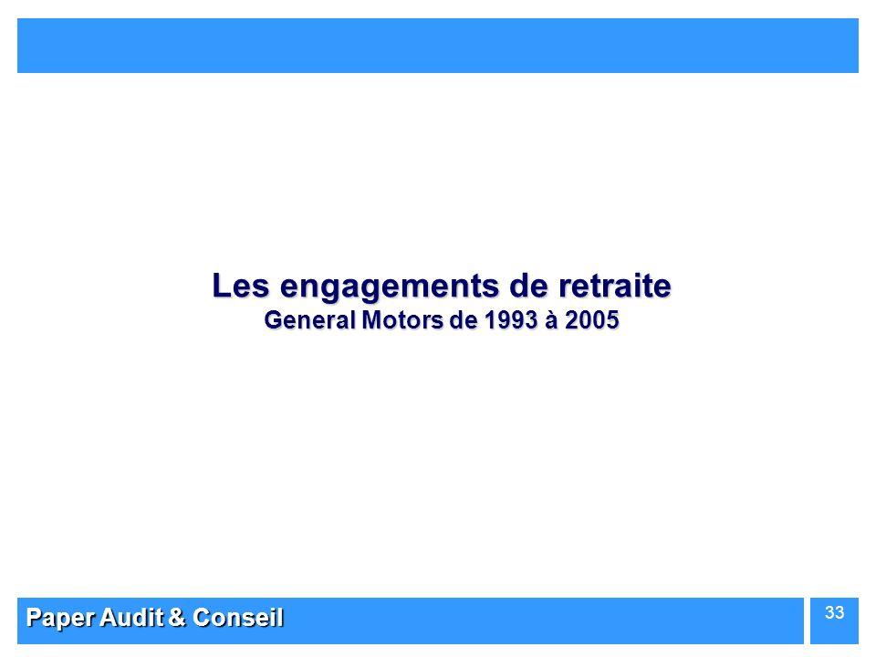 Paper Audit & Conseil 33 Les engagements de retraite General Motors de 1993 à 2005