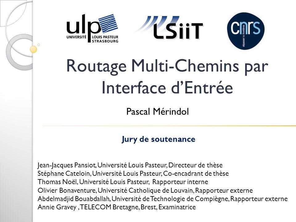 Présentation générale Couche Réseau : Routage IP I.