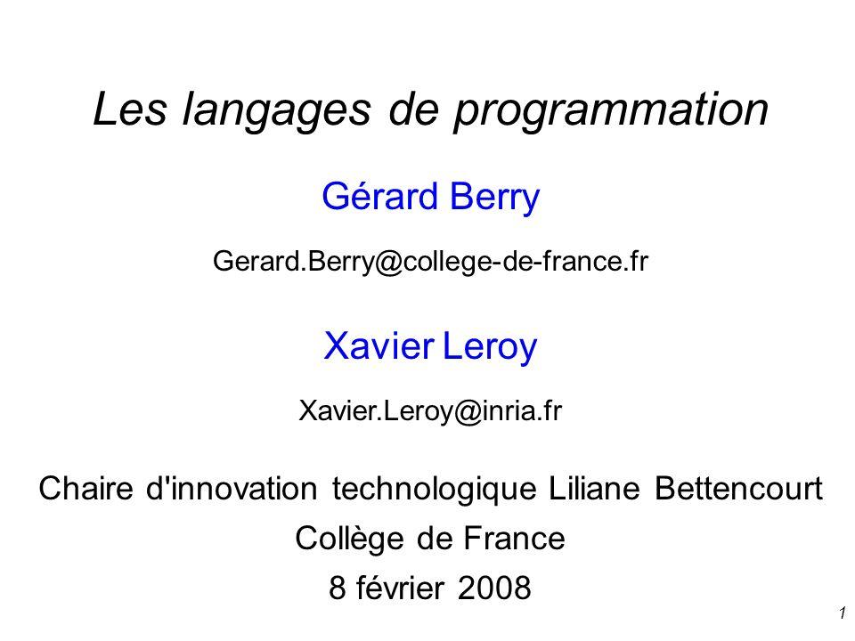 12 Style logique : Prolog Pere (Gerard, Antoine).Pere (Robert, Gerard).