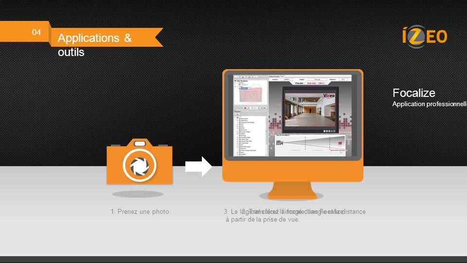 04 Applications & outils Outils offerts Disponible sur votre espace professionnel et sur notre site izeo.fr Calcul de FocaleCalcul de disque dur Espac