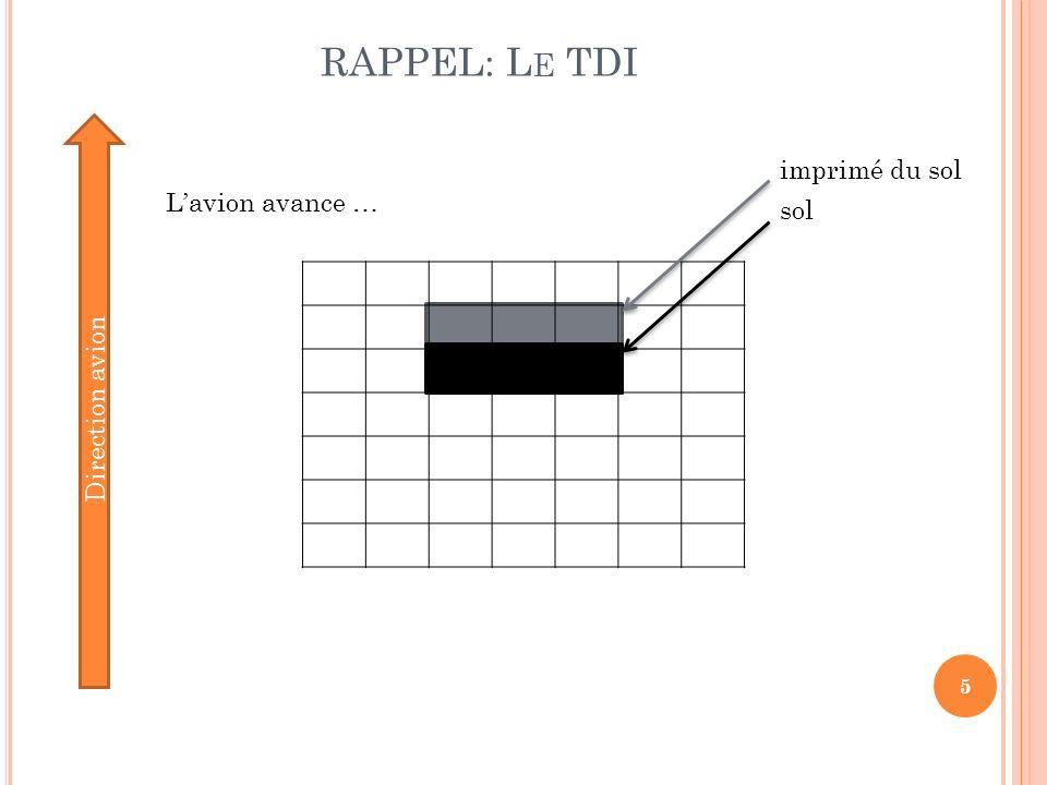 RAPPEL: L E TDI 6 Direction avion On transfert les charges dune ligne à la suivante, Pour décaler toutes les lignes… sol imprimé du sol