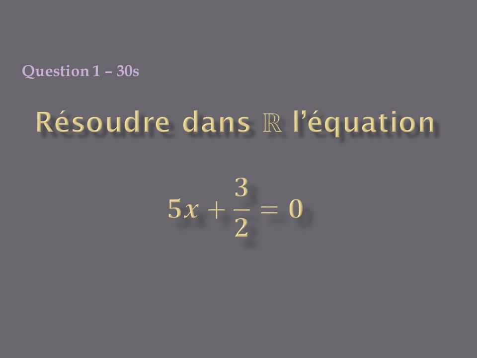 Question 2 – 40 s