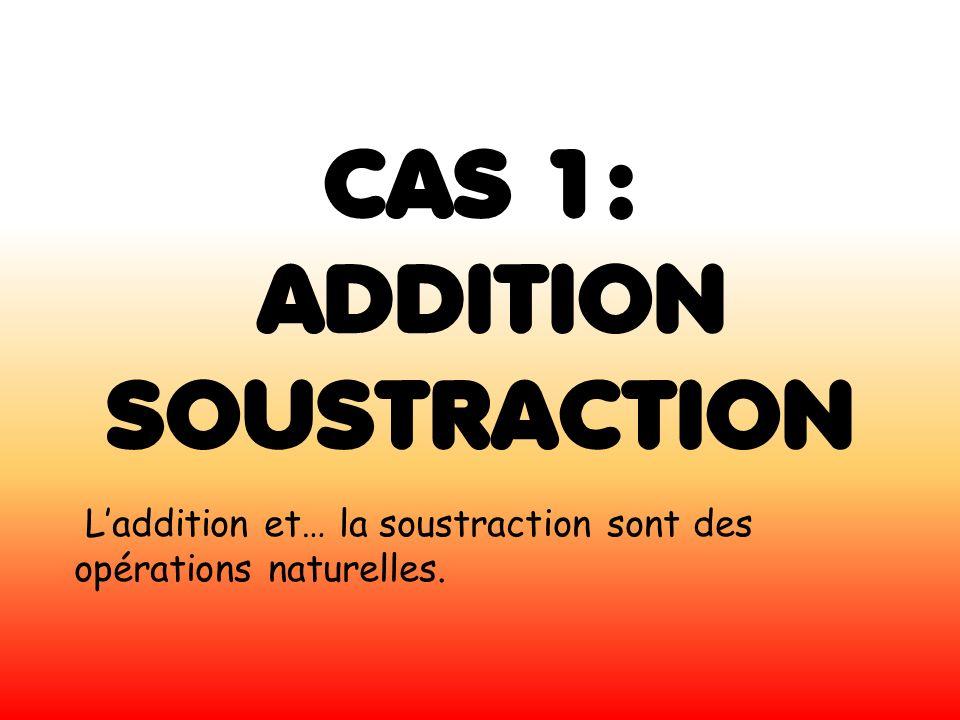 CAS 1: ADDITION SOUSTRACTION Laddition et… la soustraction sont des opérations naturelles.