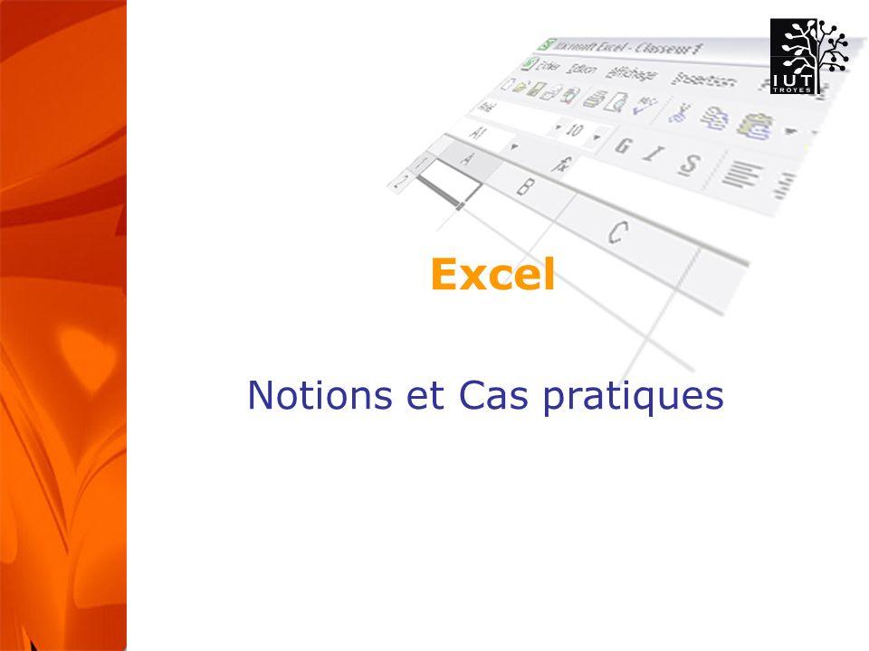 Excel Notions et Cas pratiques
