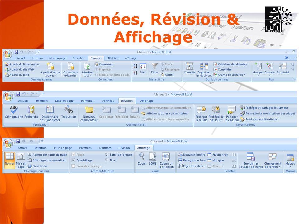 Données, Révision & Affichage