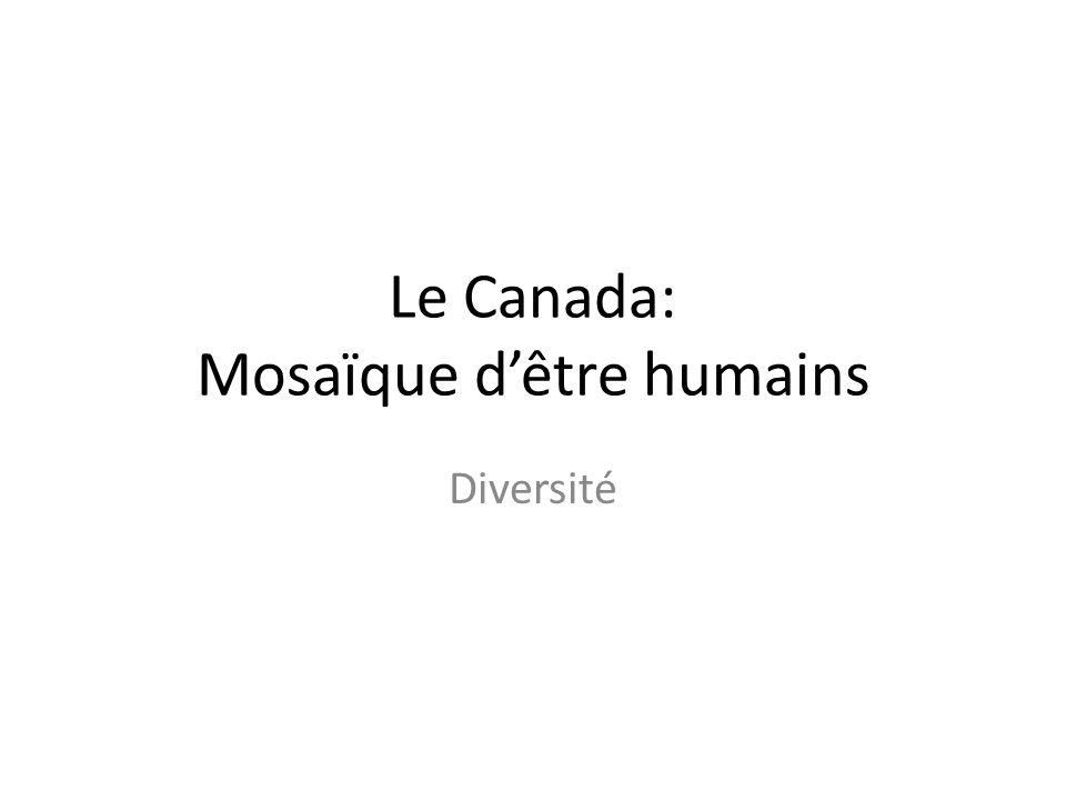 Le Canada: Mosaïque dêtre humains Diversité