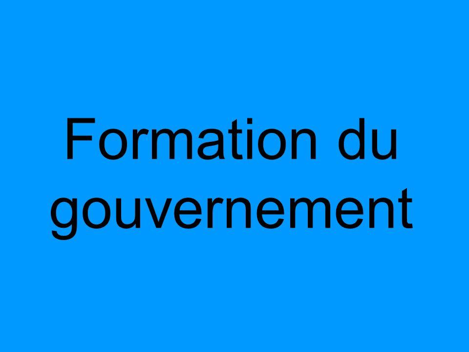 Formation du gouvernement