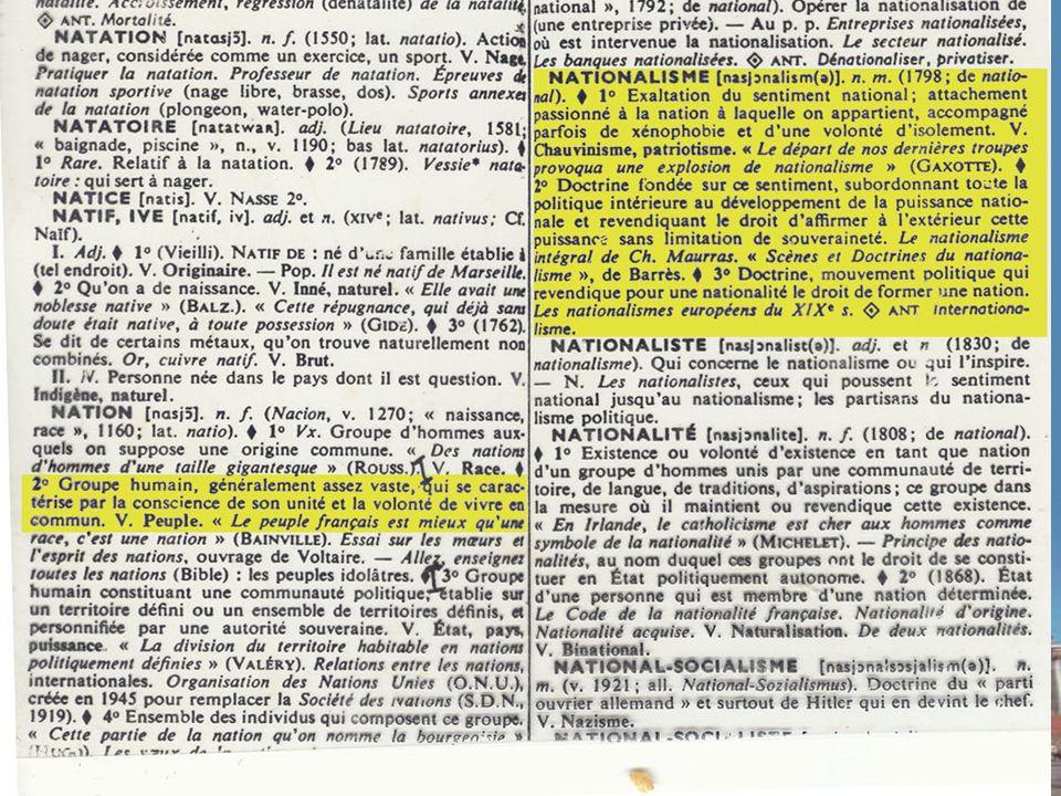 Le piège de léthos national… HIS2515 – HISTOIRE CANADA-QUÉBEC NATION : « Adhésion affective à des pratiques culturelles reconnues.