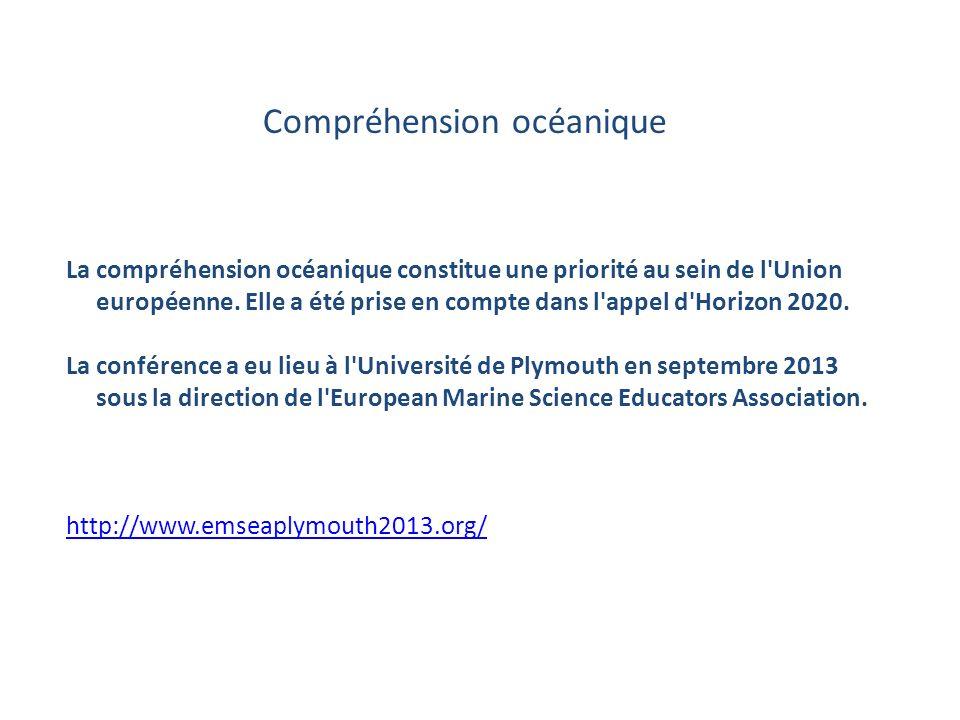 SECTEUR D INTERVENTION DE LA CROISSANCE BLEUE Plan de travail pour l exercice 2014-2015 Compréhension océanique La compréhension océanique constitue une priorité au sein de l Union européenne.