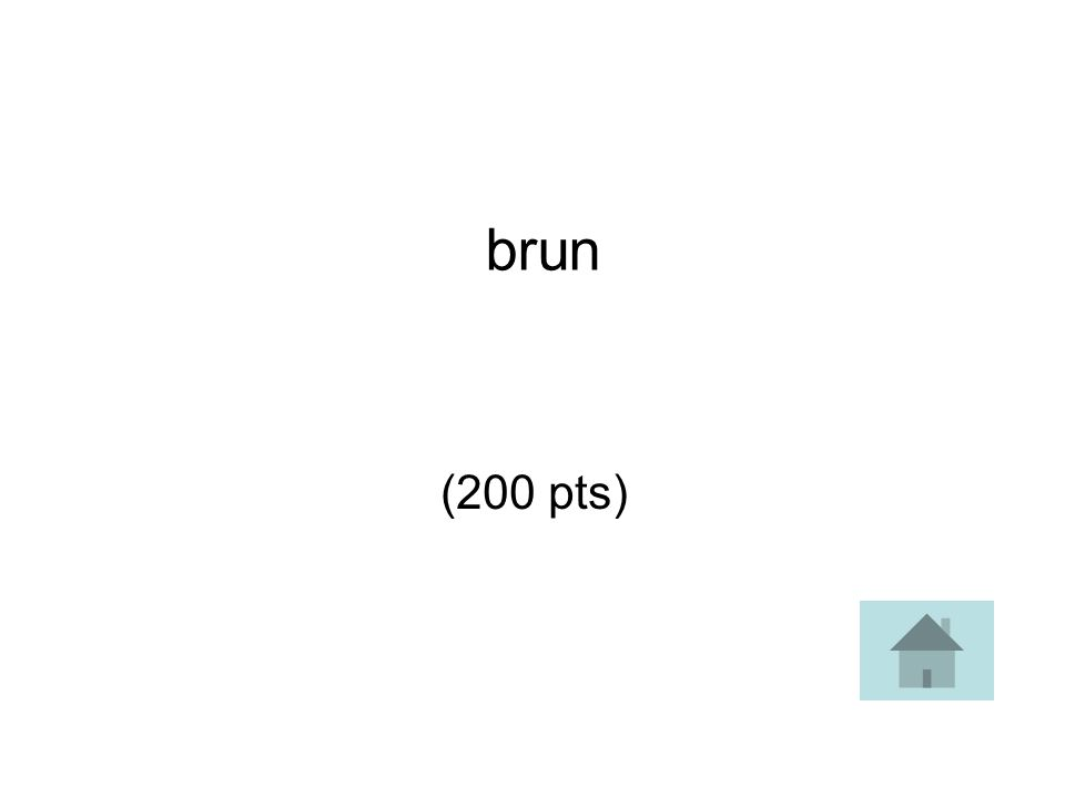 brun (200 pts)