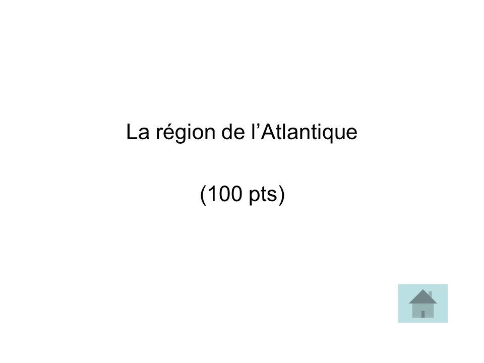 La région de lAtlantique (100 pts)