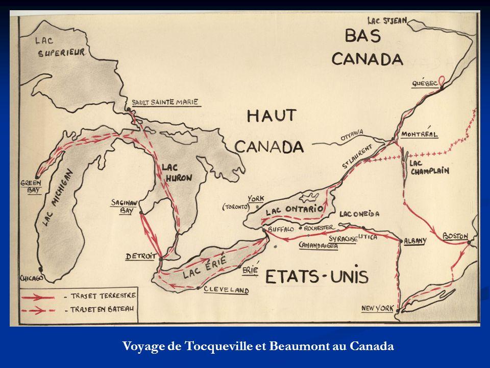 Voyage de Tocqueville et Beaumont au Canada