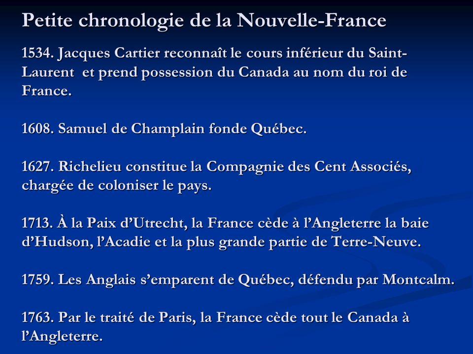 Petite chronologie de la Nouvelle-France 1534.