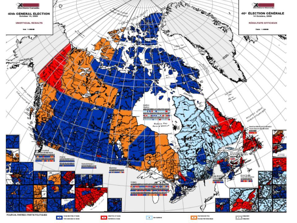 Carte électorale du Canada en 2008