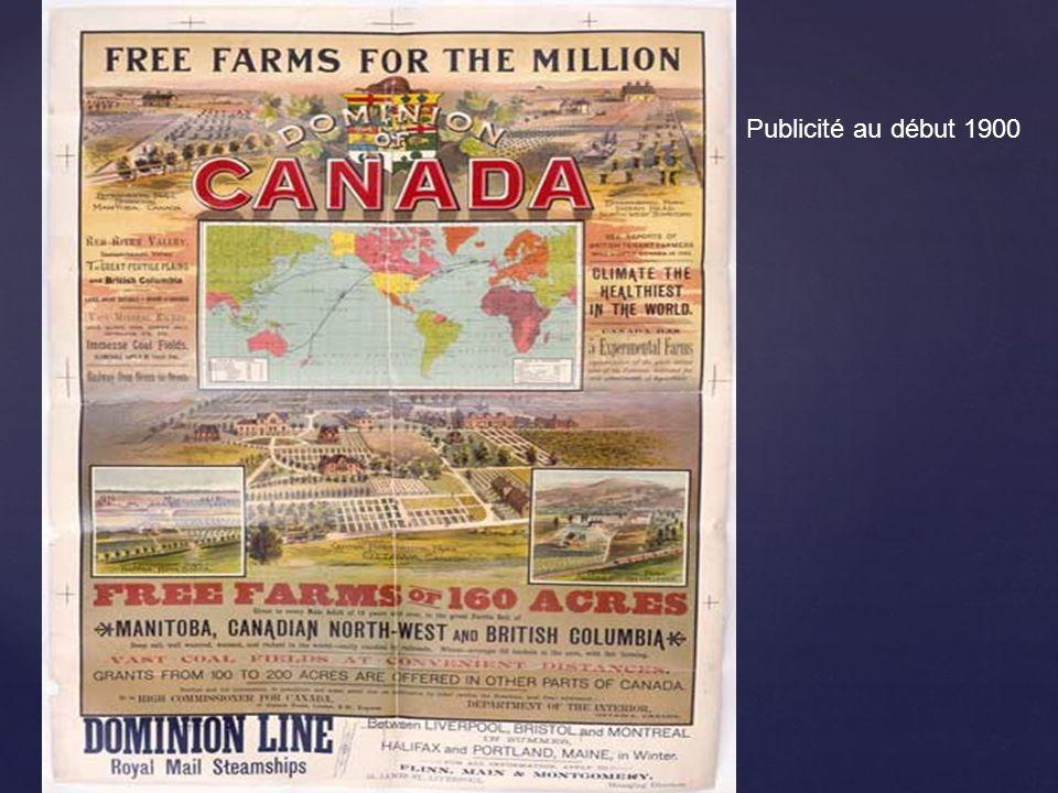 Publicité au début 1900
