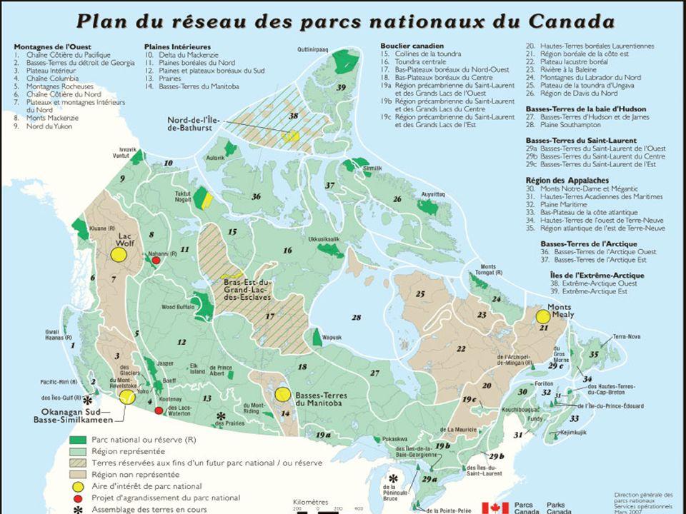 Les parcs nationaux au Québec En plus de ceux qui Canada, le Québec comptait, aussi en 2005, 23 parcs nationaux.