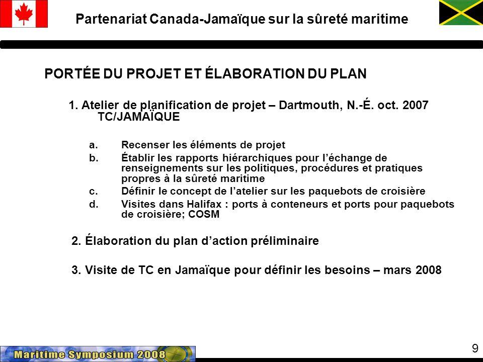 9 PORTÉE DU PROJET ET ÉLABORATION DU PLAN 1. Atelier de planification de projet – Dartmouth, N.-É.