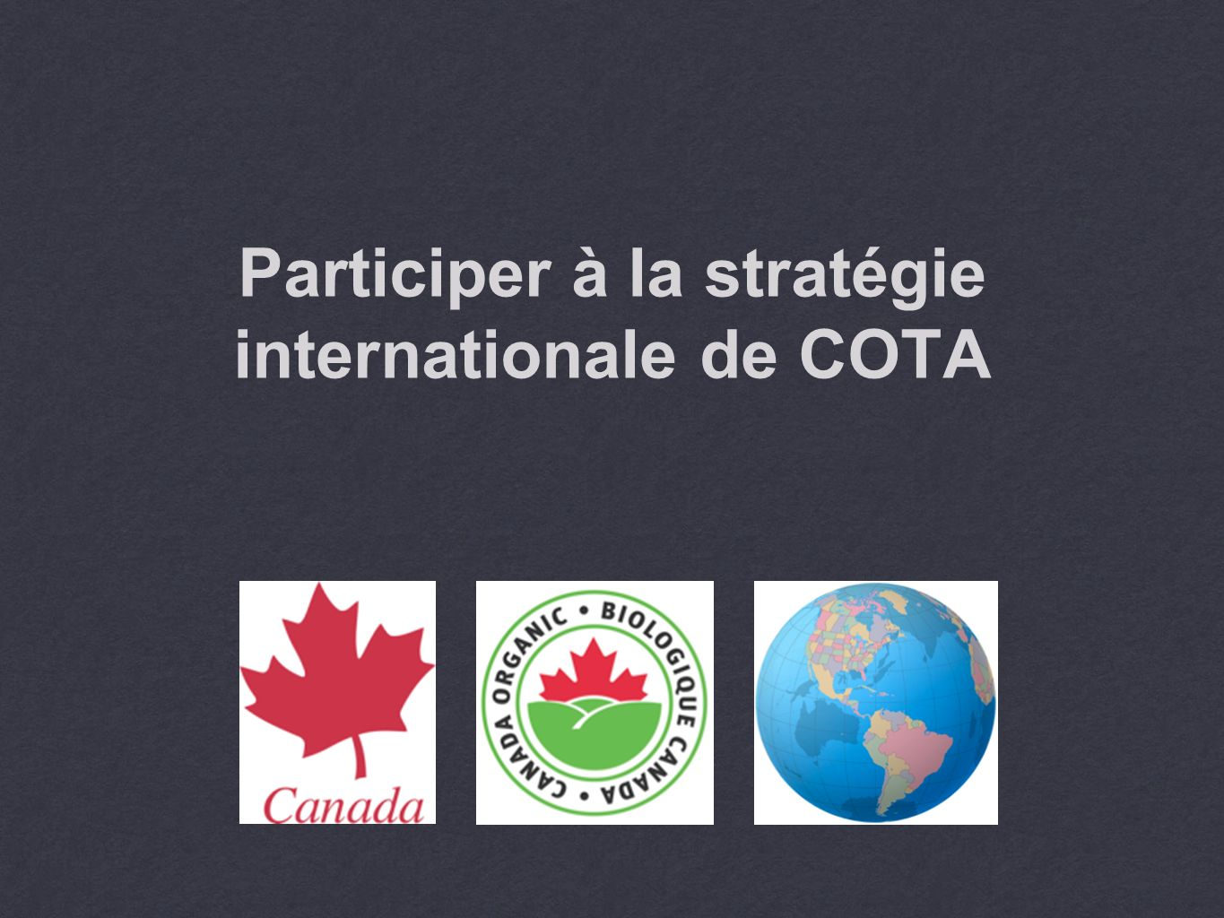 Participer à la stratégie internationale de COTA