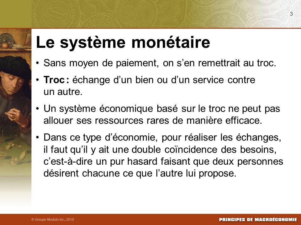 Les rôles de la monnaie Moyen déchange : intermédiaire donné par les acheteurs et accepté par les vendeurs lors de lachat dun bien ou dun service.