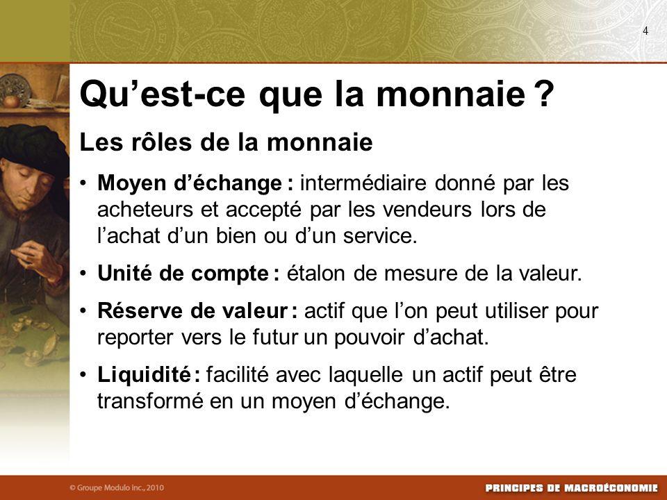 Les formes de monnaie Monnaie-marchandise : monnaie qui prend la forme dun bien ayant une valeur intrinsèque.