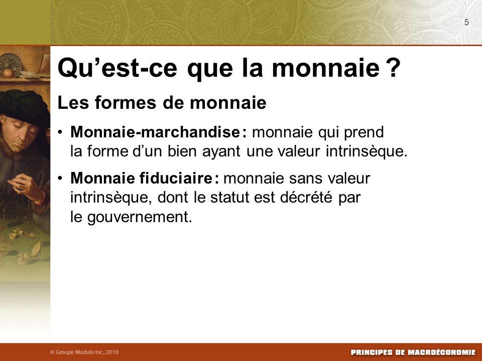 La monnaie dans léconomie canadienne Masse monétaire : quantité de monnaie en circulation dans un système économique.