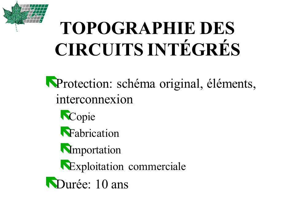 SITES INTERNET ë OPIC http://opic.gc.ca ë USPTO http://www.uspto.gov/ ë DELPHION http://www.delphion.com/ ë QPAT http://www.qpat.com/ ë JAPON http://ep.espacenet.com/