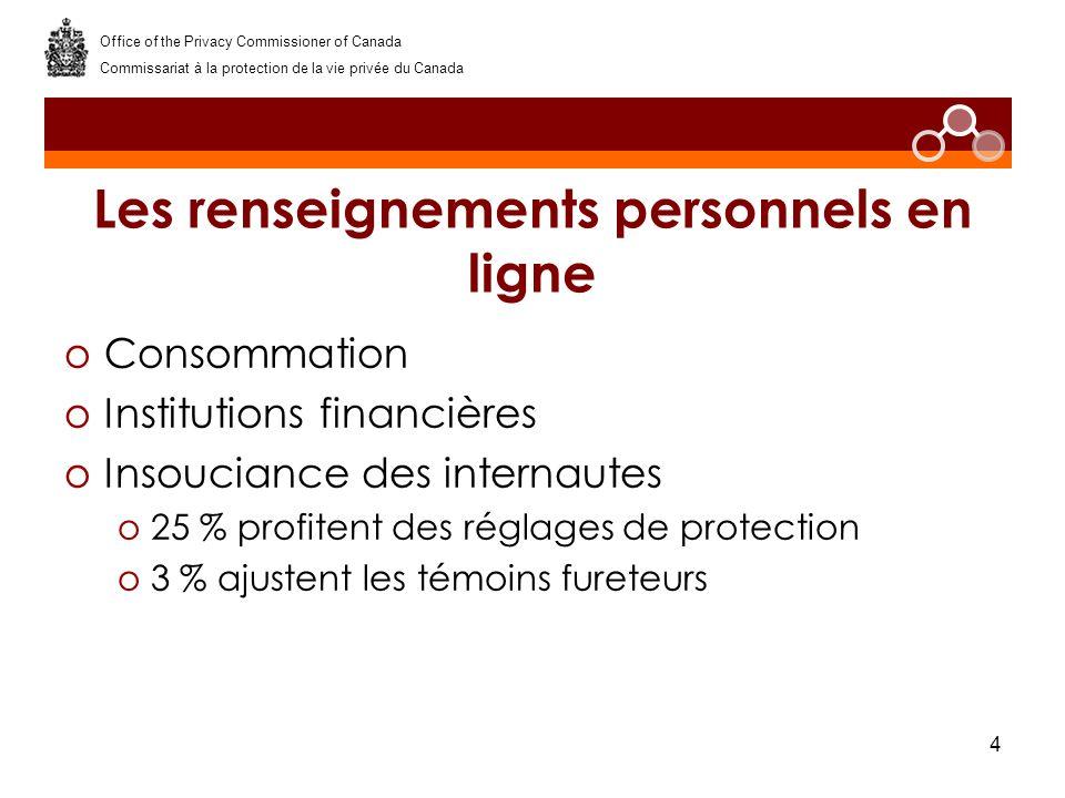 5 Sensibilisation du public oBlogue oSe protéger sur les sites de réseautage social Office of the Privacy Commissioner of Canada Commissariat à la protection de la vie privée du Canada