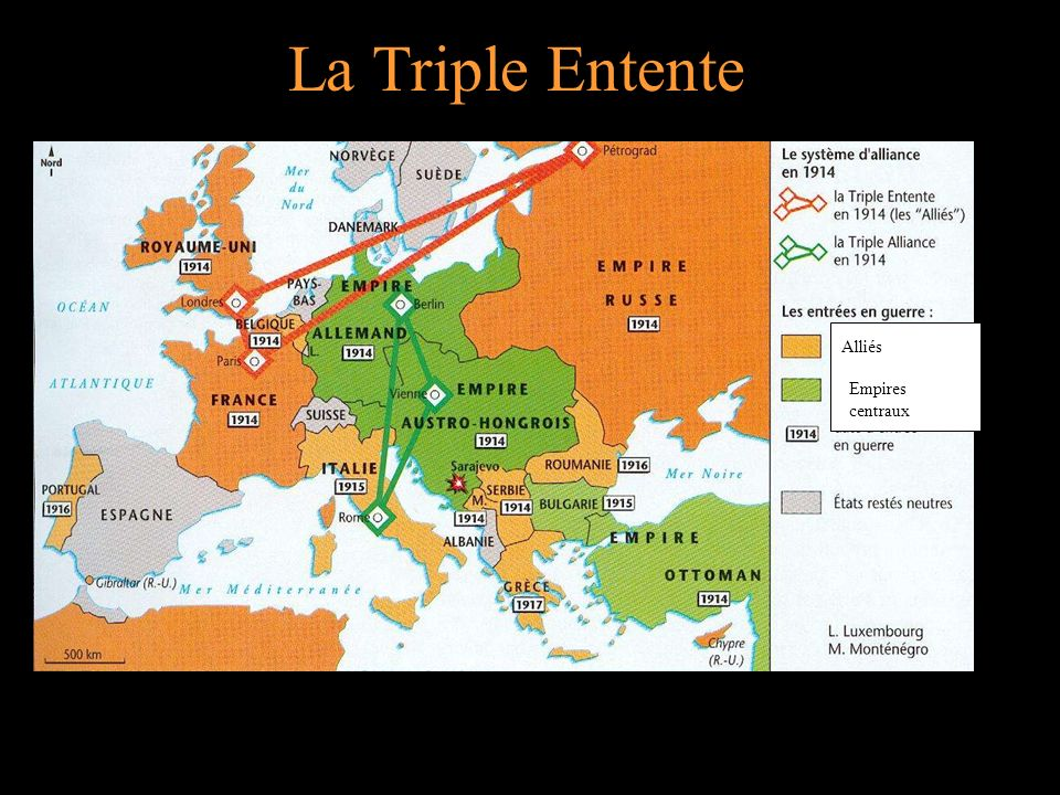 La Triple Entente Empires centraux Alliés