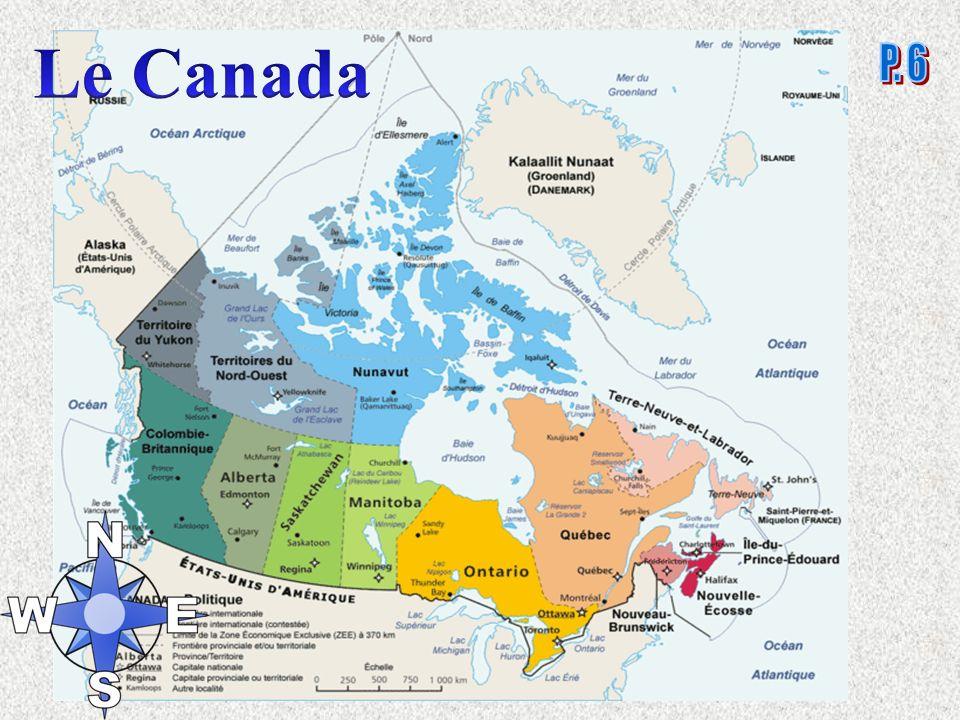 Le Canada en 1867 Le Québec, lOntario, le Nouveau- Brunswick et la Nouvelle-Écosse sunissent pour former le Dominion du Canada