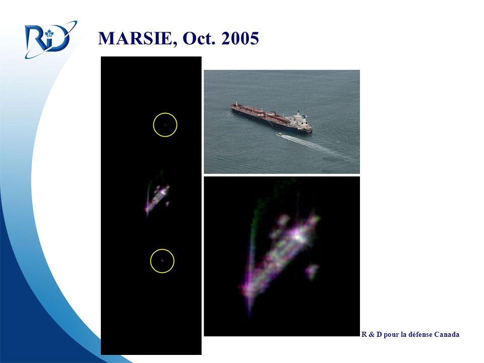 Defence R&D Canada R & D pour la défense Canada MARSIE, Oct. 2005