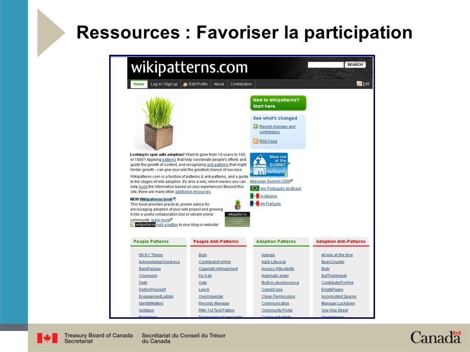 Ressources : Favoriser la participation