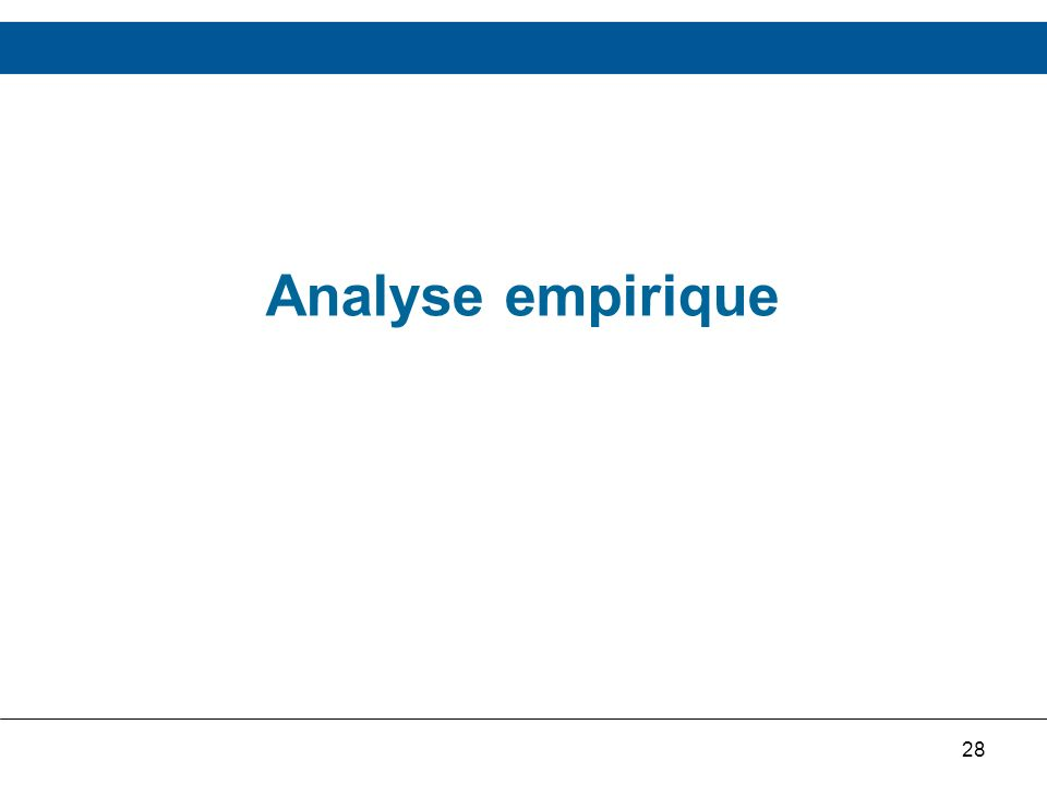 28 Analyse empirique