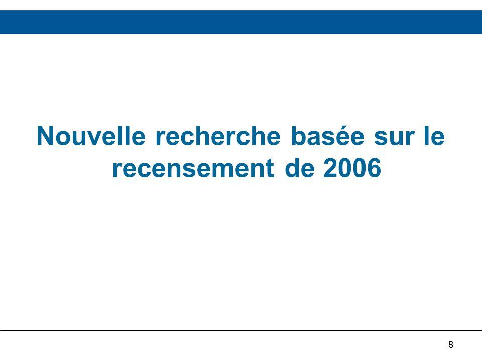 8 Nouvelle recherche basée sur le recensement de 2006